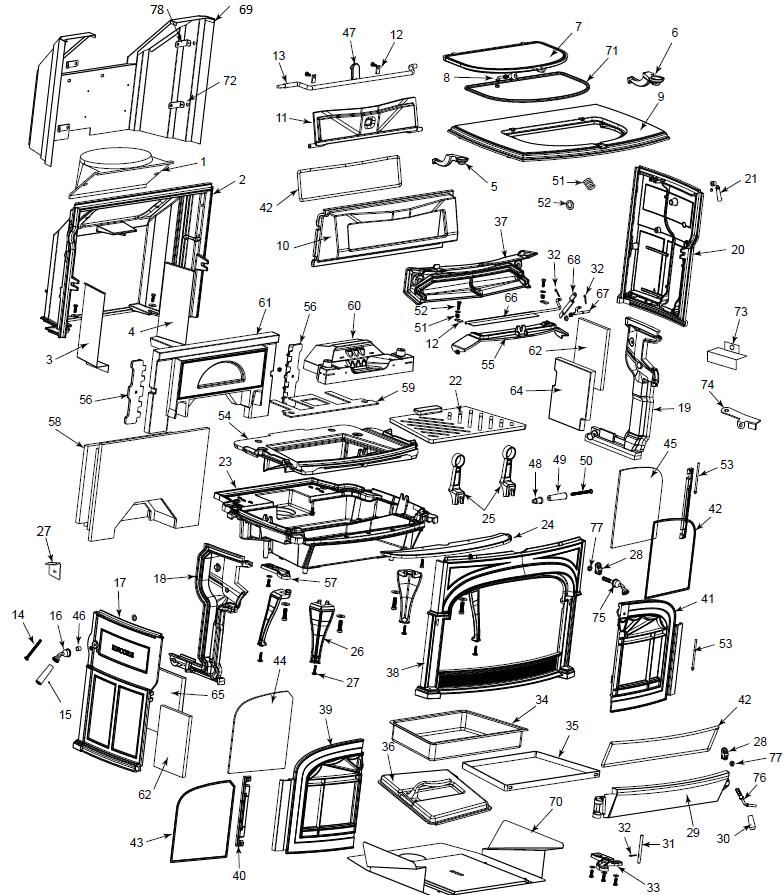 vermont castings encore 1450 non cat replacement parts. Black Bedroom Furniture Sets. Home Design Ideas