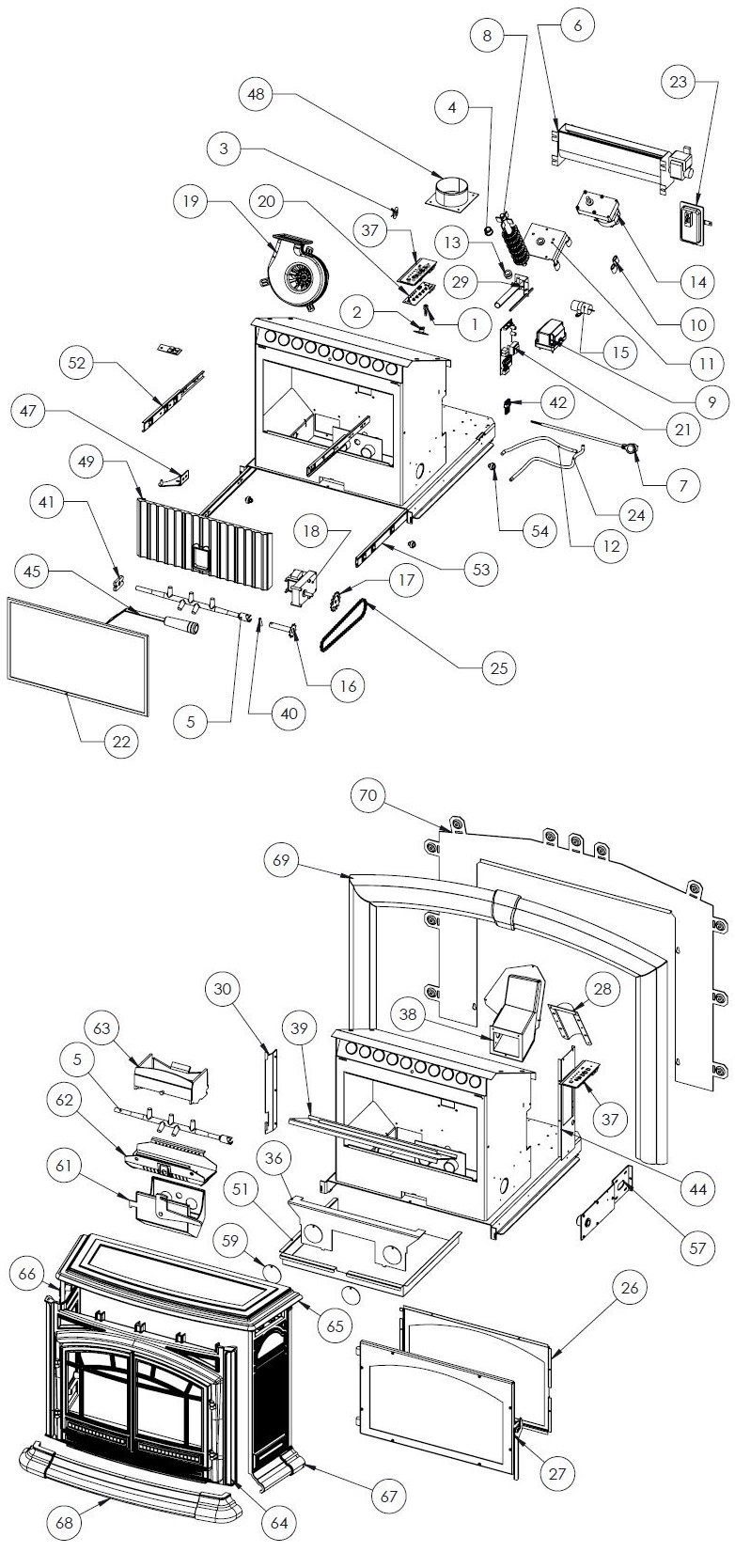 Easily identify the parts you need by clicking on the diagram, a box will  pop up with more info on the part. Or, use the handy parts list located  below the ...