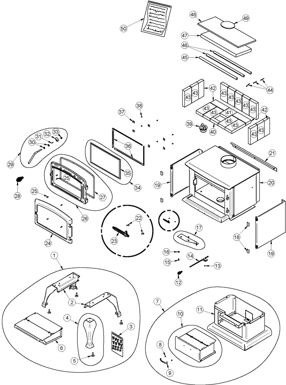 1149 besides 7p049cf besides B45267 Fasco Blower 115 Vac 460 Cfm 16001400 Rpm 290   2 Speed Sleeve Bearing Single Phase further Solution 1 8 Serial 161 To 3024 Parts Diagram also Intrepid Nc 1640 Parts Diagram. on us stove replacement blowers