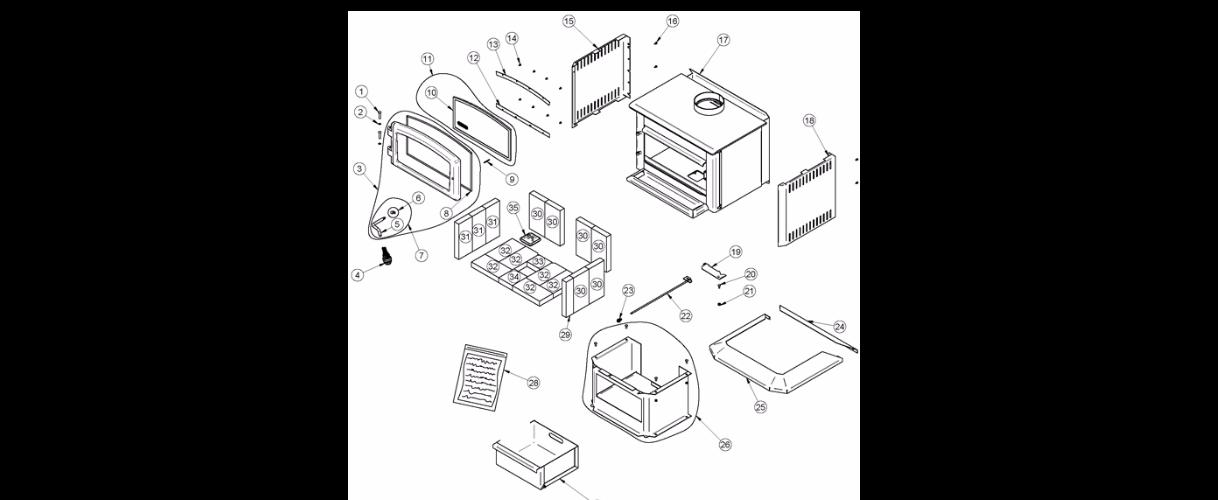 quadra fire parts diagram