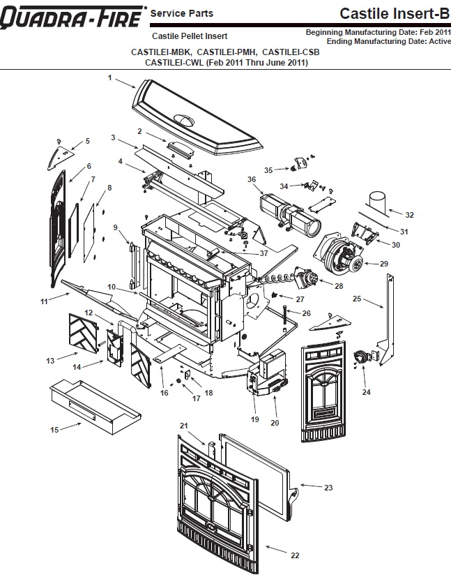 quadra fire 1000 pellet stove wiring schematic  direct