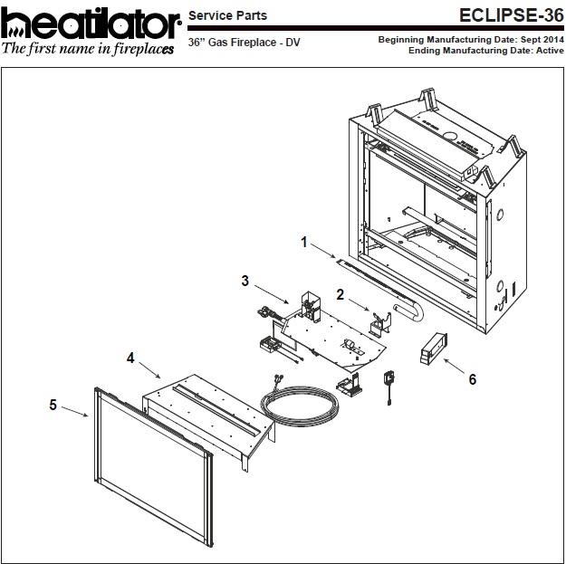 Heatilator Eclipse-36 Gas