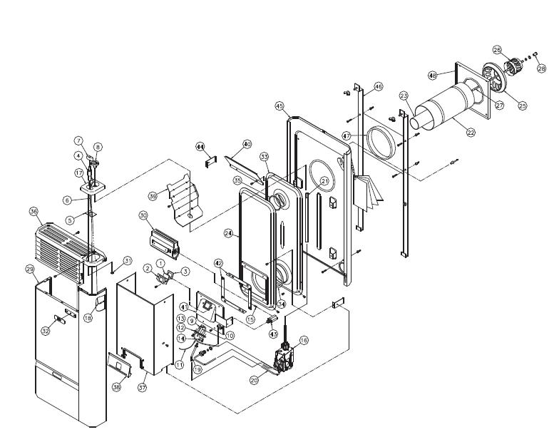 US Stove V8 Gas Stove
